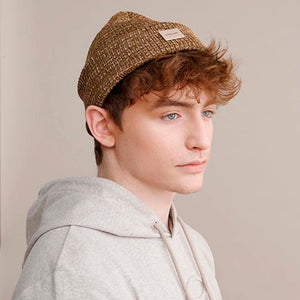Globe Hope basic hat with inverted edge. Brown.