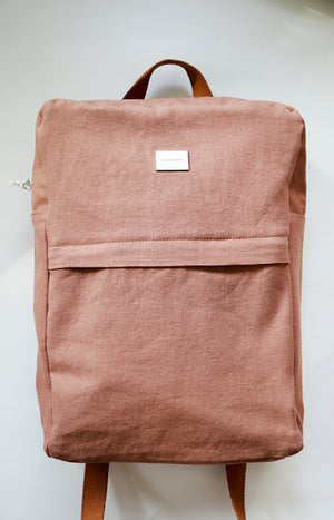 Globe Hope backpack in light brown canvas
