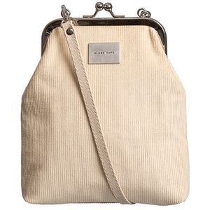 Globe Hope Spacious purse in light corduroy. Made in Finland from surplus materials.