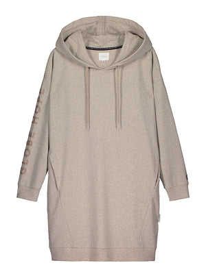 Women's long hoodie. Responsibly made from recycled materials.