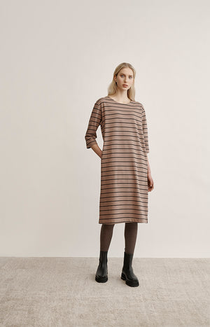 Globe Hope striped college dress made of recycled material