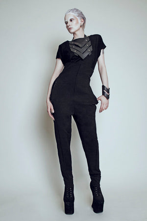 High waist pants recycled material. MEM by Paula Malleus