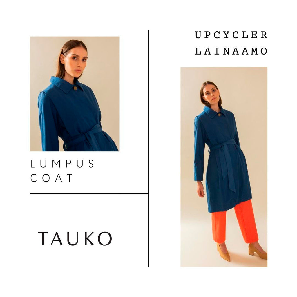 Upcycler Loan Agency TAUKO trench coat blue