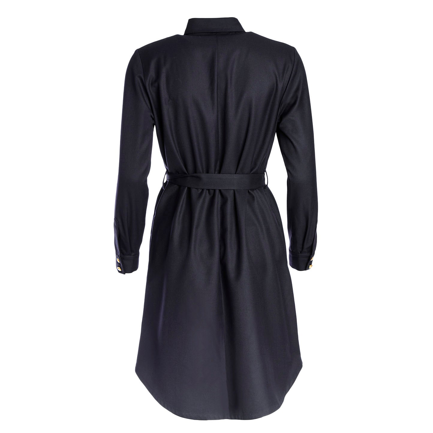 dark blue shirt dress Mahla Clothing