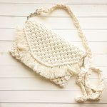 Macrame bag handmade in off-white
