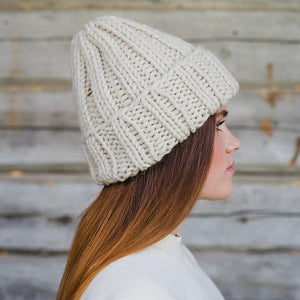 Hat farm Muffi white wool hat