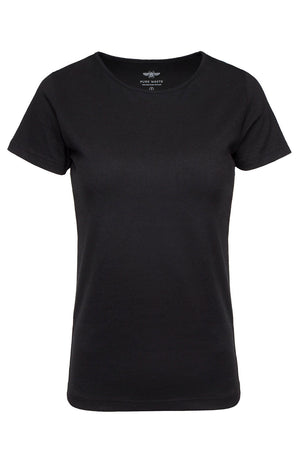 Women's Black T-Shirt Pure Waste