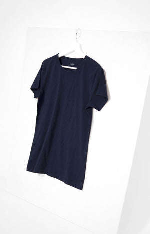 Pure Waste T-shirt with round neck, blue