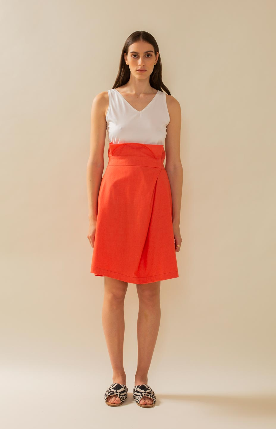 TAUKO Mussel skirt orange