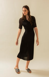 Black knitted party dress, Hue Break Design