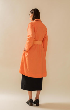 Farbiges Trenchcoat-Bruchdesign
