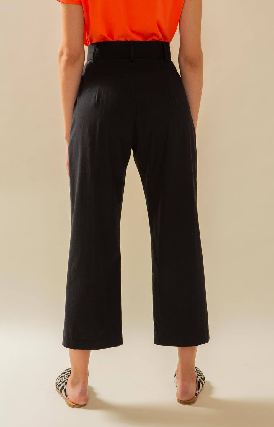 Mya slacks, black high waist pants, TAUKO Design