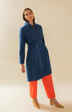 TAUKO Lumpus trench coat blue