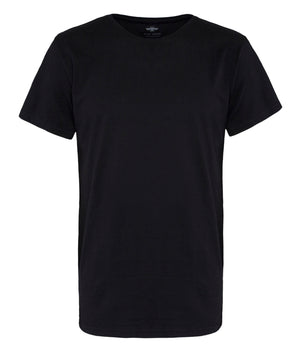 Men's t-shirt in black, eco-friendly recyclable