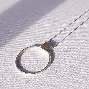 Necklace in recycled silver