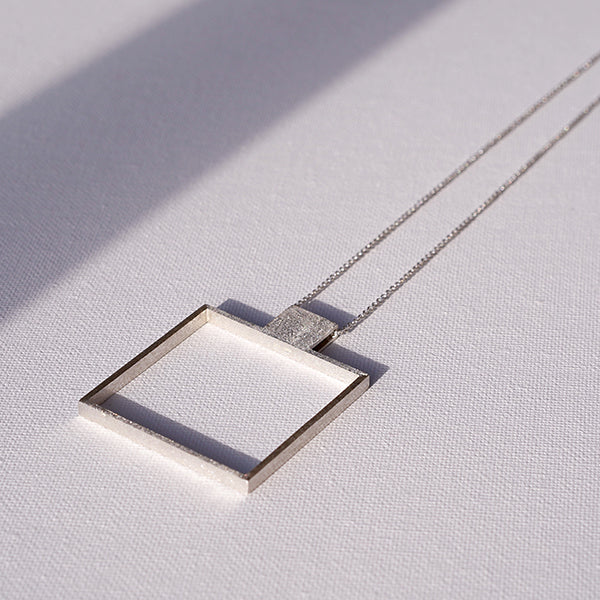 MUOTO Square Pendant Necklace. TUOHI Jewelry