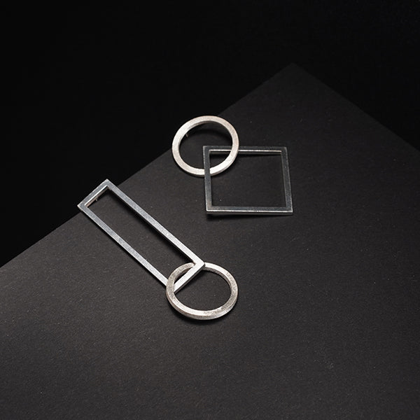 Shape Statement Asymmetrical Earrings
