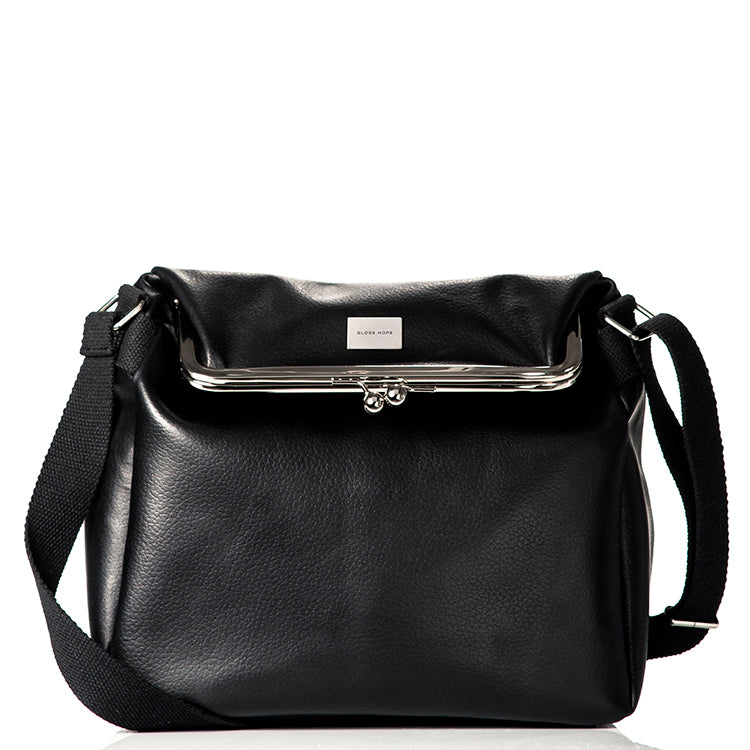 Globe Hope classic black shoulder bag in surplus leather