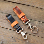 Men's leather keychain