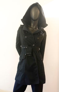Hooded trench coat second hand