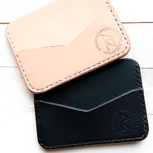 Leather handmade card holder