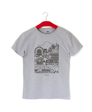 Helsinki t-shirt, recycled material.