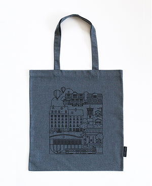 Ecological durable bag from recycled jeans. Vallila Helsinki.