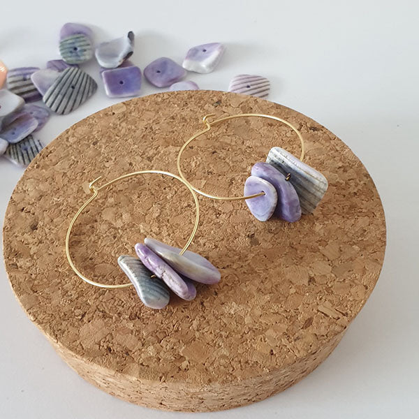 Shells earrings, Rå Wear