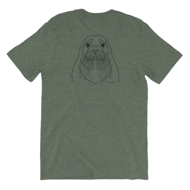 Bearded Seal - Unisex T-Shirt (Back Design)