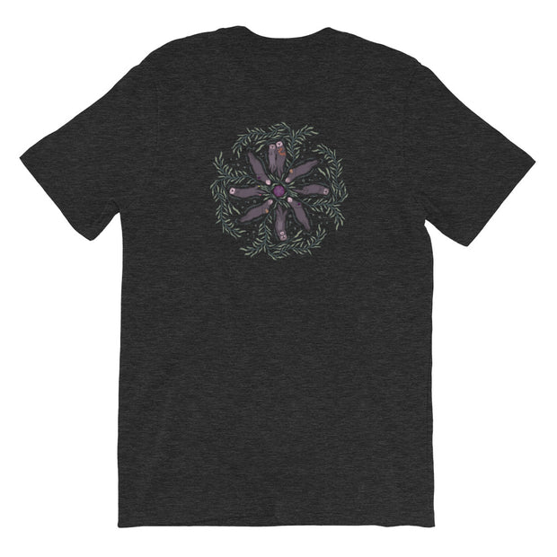 Sea Otter Mandala - Unisex T-Shirt (Back Design)