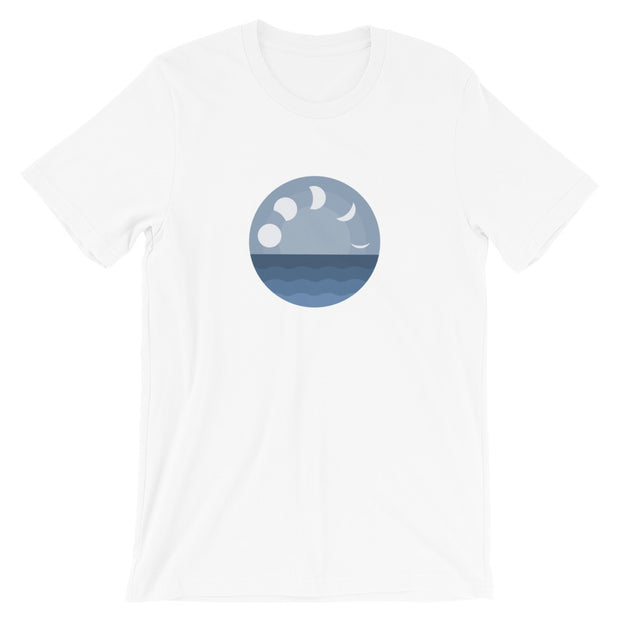 Lo Tide Moon Phase - Unisex T-Shirt (Front Design)