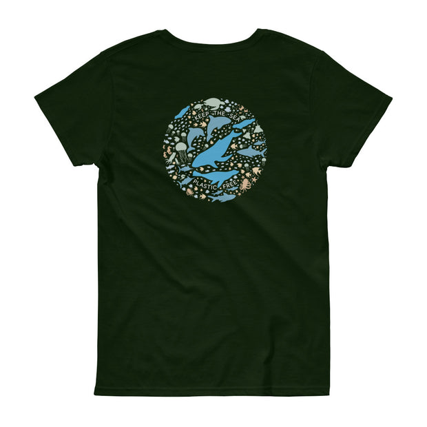 Keep the Sea Plastic Free - Women's T-Shirt (Back Design)