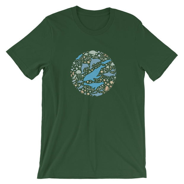 Keep the Sea Plastic Free - Unisex T-Shirt (Front Design)