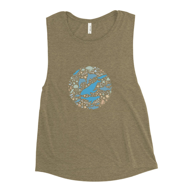 Keep the Sea Plastic Free - Ladies' Muscle Tank