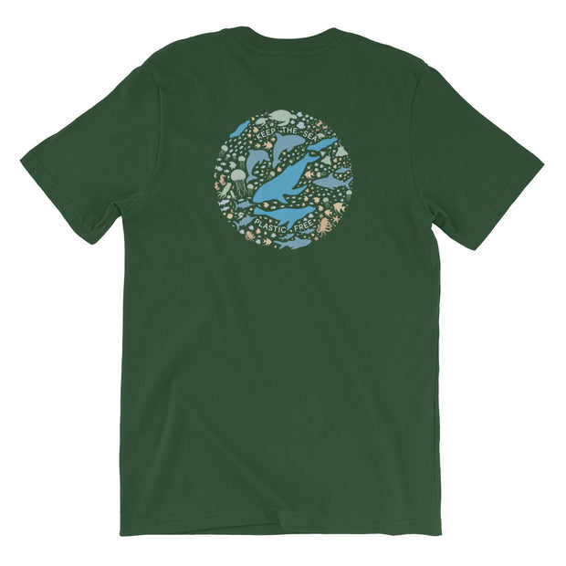 Keep the Sea Plastic Free - Unisex T-Shirt (Back Design)