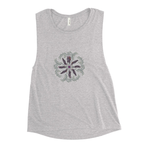 Sea Otter Mandala - Ladies' Muscle Tank