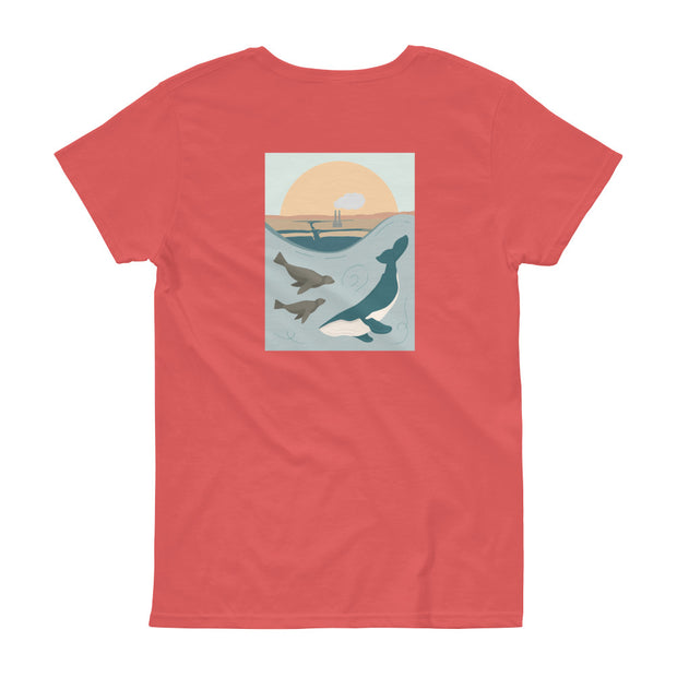 Moss Landing - Women's T-Shirt (Back Design)