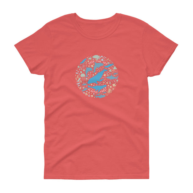 Keep the Sea Plastic Free - Women's T-Shirt (Front Design)