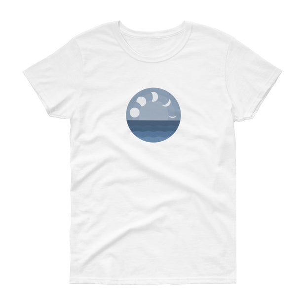 Lo Tide Moon Phase - Women's T-Shirt (Front Design)