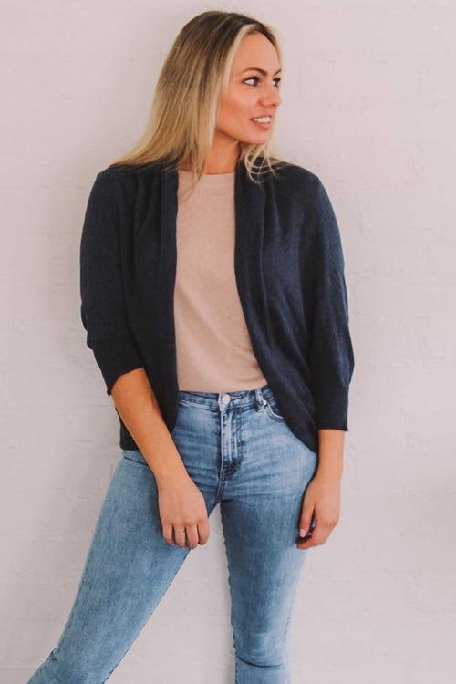 LEXI SHRUG IN NAVY