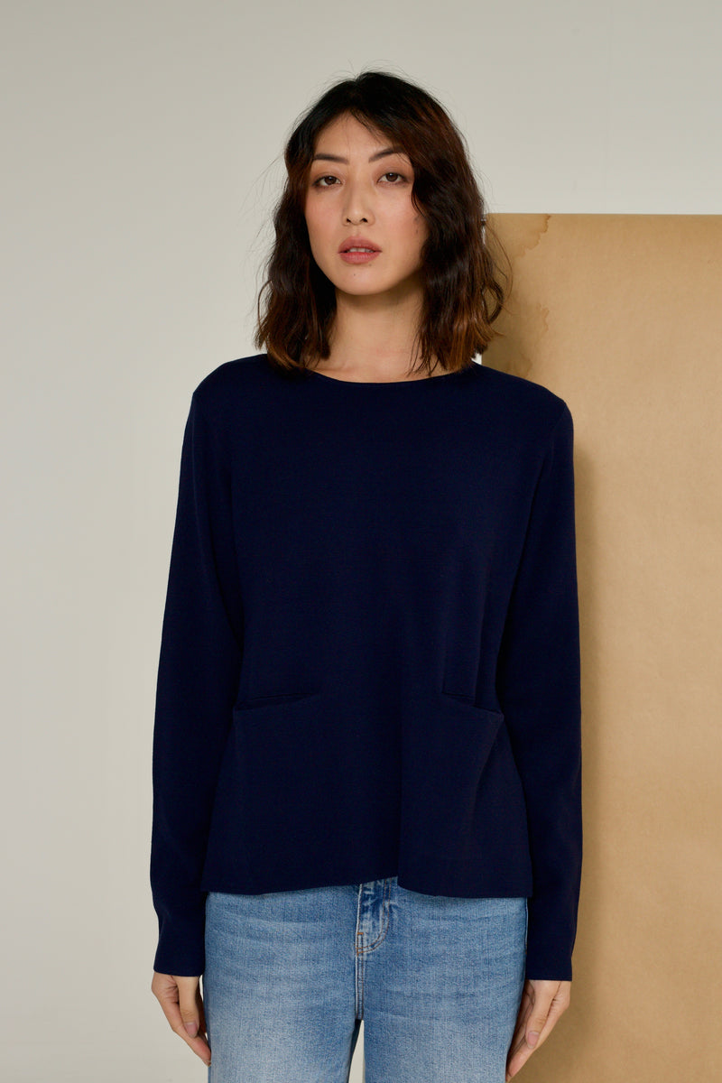 MILANO TOP IN NAVY