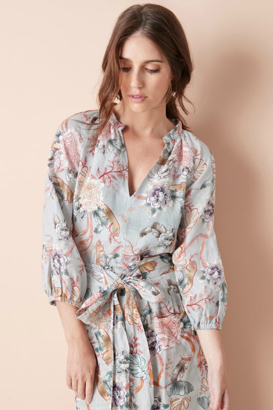 ABIGAIL BLOUSE IN ORIENTAL FLORAL