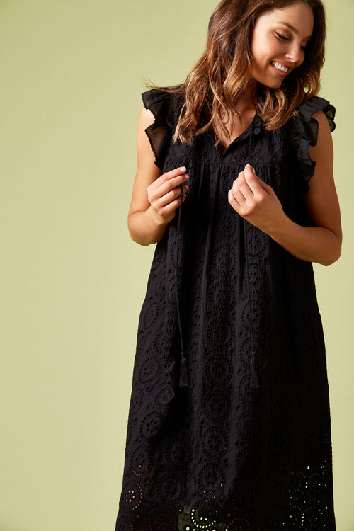 ALCARZAR DRESS IN BLACK