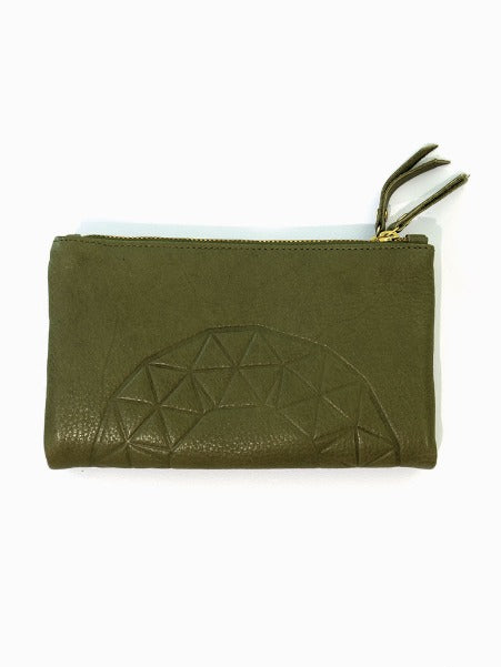 ASH EMBOSS WALLET IN KHAKI