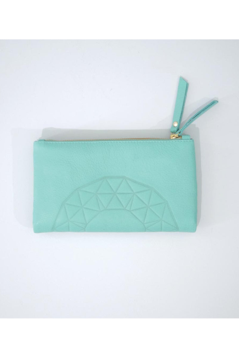 ASH EMBOSS WALLET IN MINT