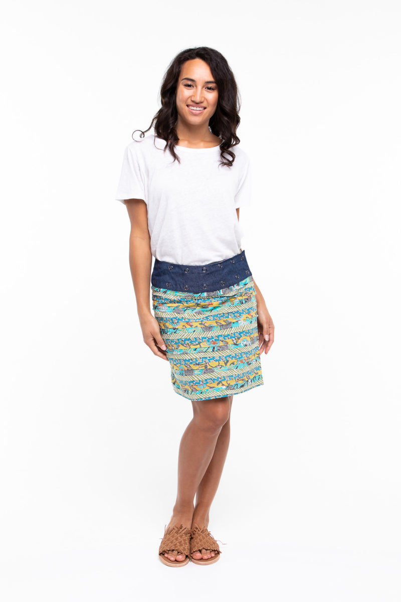 APATCHY SKIRT IN MOANA