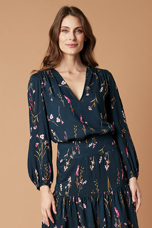 BALMAIN BLOUSE IN SPRIGGY FLORAL