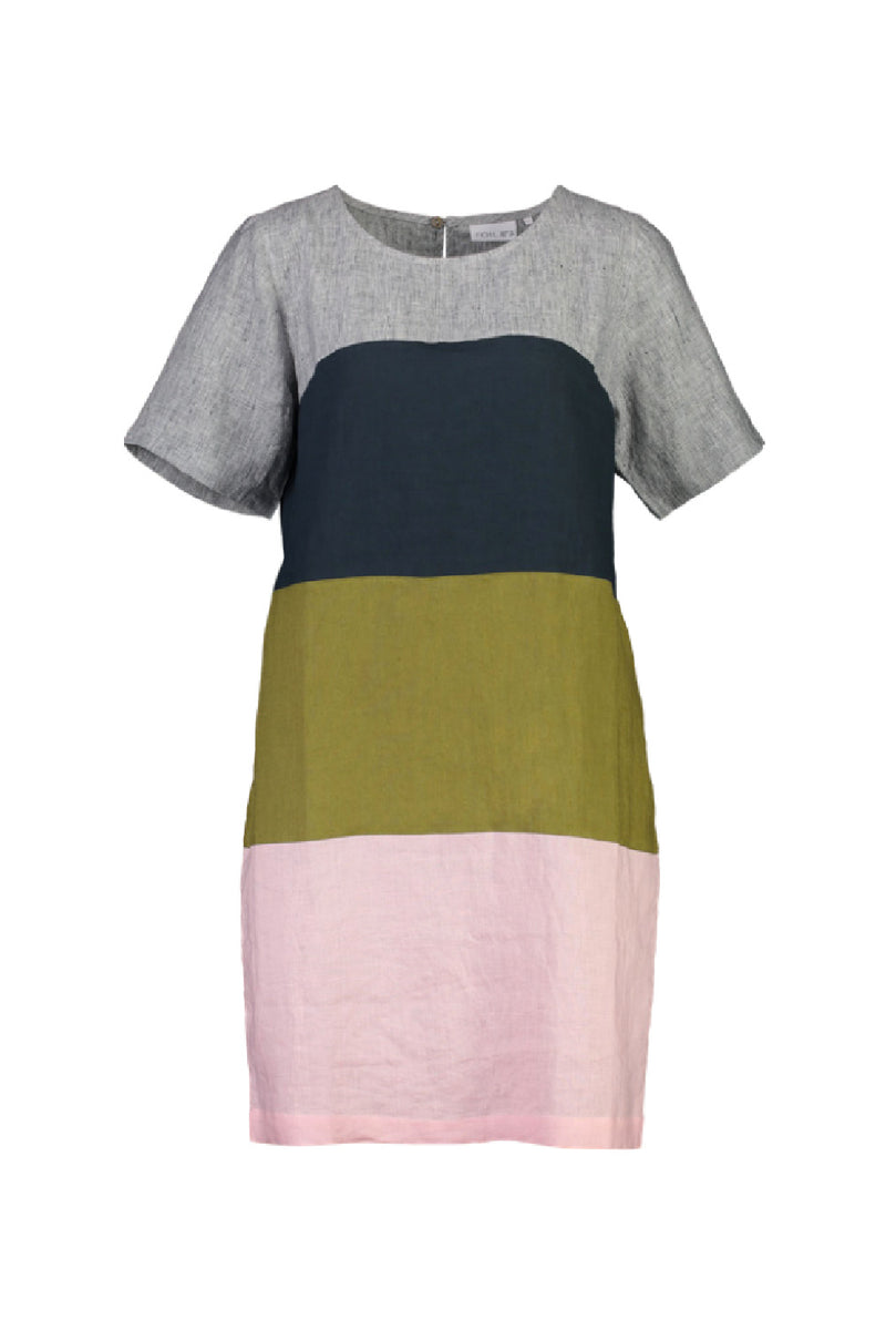 BAND OF OTHERS LINEN SHIFT IN STRIPE MIX