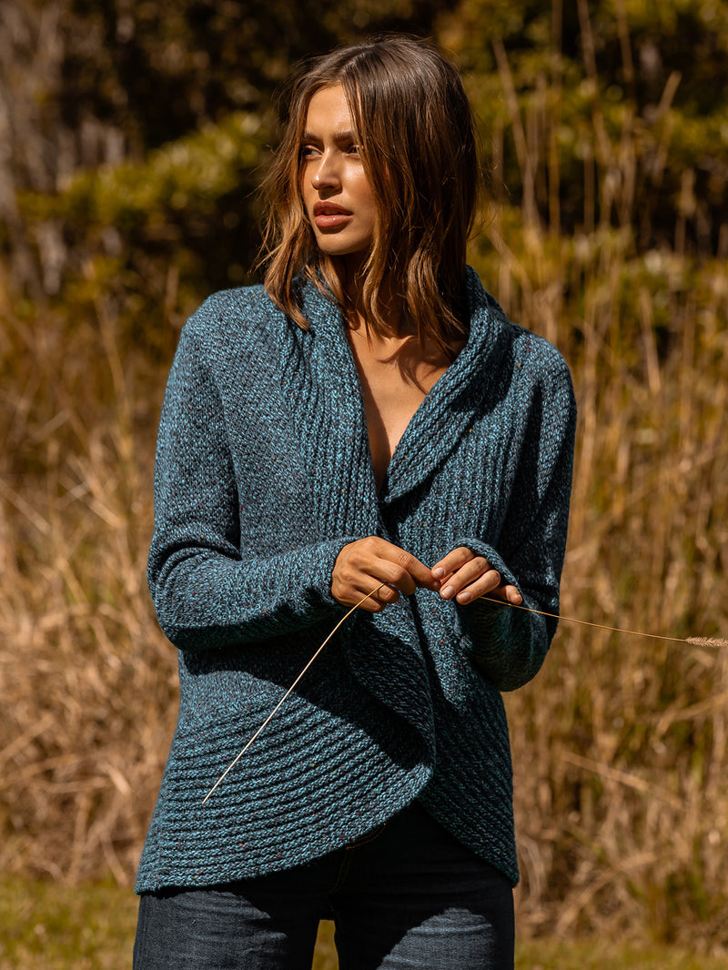 BIRDS EYE CARDI IN LAKESIDE COMBO