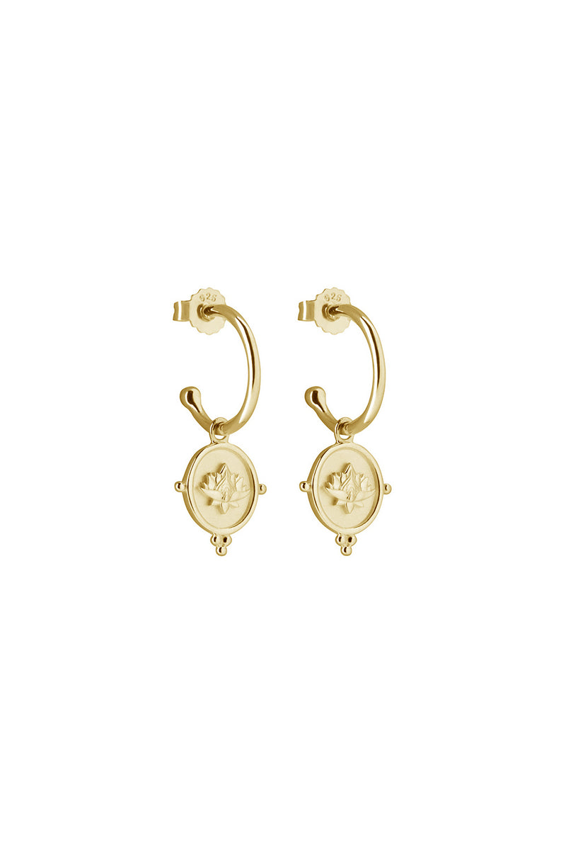 BLOOMING EARRINGS IN 18KT YELLOW GOLD PLATE